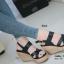 รองเท้าส้นเตารีดรัดส้น สายไขว้ กระชับเท้า [สีดำ ] thumbnail 3