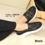 รองเท้าผ้าใบผ้าลูกไม้ Fitness Vintage Soft [สีดำ ] thumbnail 3
