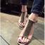 พร้อมส่ง รองเท้าส้นเข็มหุ้มข้อสีเบจ ผ้าสักหราด แฟชั่นเกาหลี แฟชั่นเกาหลี [สีเบจ ] thumbnail 3