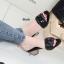รองเท้าส้นตันเปิดส้น CN CamilliaSandals Style [สีดำ ] thumbnail 2