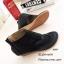 พร้อมส่ง รองเท้าหุ้มข้อสีน้ำสีดำ แฟชั่นแคชชวล ฉลุลาย แฟชั่นเกาหลี [สีดำ ] thumbnail 6