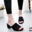 รองเท้าส้นตันเปิดส้น แบบสวม [สีดำ ] thumbnail 3