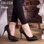 พร้อมส่ง รองเท้าคัทชูส้นสูง ทรงสุภาพ ดีไซน์เรียบหรู แฟชั่นเกาหลี [สีดำ ] thumbnail 1