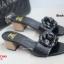 รองเท้าส้นตันเปิดส้น CN CamilliaSandals Style [สีดำ ] thumbnail 3