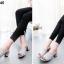 รองเท้าส้นตันเปิดส้น แบบสวม [สีเทา ] thumbnail 2