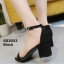 รองเท้าส้นตันรัดส้น เพิ่มสายรัดข้อเท้า [สีดำ ] thumbnail 3