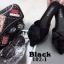 พร้อมส่ง รองเท้าส้นเตี้ยเปิดส้นสีดำ หัวแหลม แต่งกุหลาบ แฟชั่นเกาหลี [สีดำ ] thumbnail 3