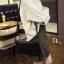 กระเป๋าถือ กระเป๋าคลัช วัสดุหนัง PU ปั้มลาย ประดับหมุดดำเก๋ๆ [สีดำ ] thumbnail 2