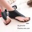 พร้อมส่ง รองเท้าหุ้มข้อสีน้ำสีดำ แฟชั่นแคชชวล ฉลุลาย แฟชั่นเกาหลี [สีดำ ] thumbnail 3