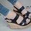 รองเท้าส้นเตารีดรัดส้น สายไขว้ กระชับเท้า [สีดำ ] thumbnail 2