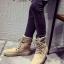 พร้อมส่ง รองเท้าผ้าใบหุ้มข้อสีแอปริคอท ผ้าสักหราด แฟชั่นเกาหลี แฟชั่นเกาหลี [สีแอปริคอท ] thumbnail 2