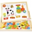 ของเล่นเสริมพัฒนาการ ของเล่น ของเล่นไม้ชุดกระดานเเม่เหล็กเเละกระดานดำชุด Happy Animal Farms thumbnail 2