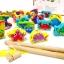 ของเล่นเสริมพัฒนาการ ของเล่นไม้ ของเล่น 3 in 1 จับคู่ ร้อยเชือก ตกปลา สัตว์ทะเล ฝึกสมาธิ thumbnail 3
