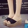 รองเท้าส้นเตารีด สไตล์เกาหลี(สีดำ)