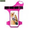 สายรัดแขนวิ่ง Armband สีชมพู ใส่โทรศัพท์ รัดข้อมือ แบบสอดนิ้ว