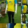 SALE! 50% เสื้อปั่นจักรยาน แขนสั้น bike for dad สีฟ้าเหลือง SIZE 3XL