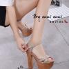 รองเท้าส้นสูง สไตล์เกาหลีงานนำเข้า(สีครีม)