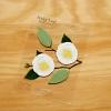Post it โพสต์อิทเกาหลีลายดอกคามิเลีย-สีขาว