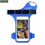 สายรัดแขนวิ่ง Armband สีฟ้า ใส่โทรศัพท์ รัดข้อมือ แบบสอดนิ้ว