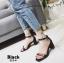รองเท้าส้นตัน ผ้าซาติน(สีดำ) thumbnail 3