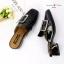รองเท้าคัทชูส้นตัน เปืดท้าย(สีดำ) thumbnail 2
