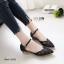 รองเท้าคัทชูส้นแบน รัดข้อ หัวแหลม (สีดำ) thumbnail 1