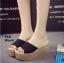 รองเท้าส้นเตารีด สไตล์เกาหลี(สีดำ) thumbnail 1