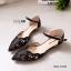 รองเท้าคัทชูส้นแบน รัดข้อ หัวแหลม (สีดำ) thumbnail 2