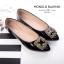 รองเท้าคัทชูส้นแบน หนังแก้ว(สีดำ) thumbnail 5