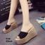รองเท้าส้นเตารีด สไตล์เกาหลี(สีดำ) thumbnail 4