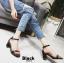 รองเท้าส้นตัน ผ้าซาติน(สีดำ) thumbnail 2