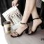 รองเท้าส้นตัน ผ้าซาติน(สีดำ) thumbnail 4
