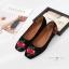 รองเท้าคัทชูส้นแบน ผ้ากำมะหยีซับเงานิ่ม(สีดำ) thumbnail 4
