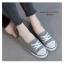 รองเท้าผ้าใบ ส้นเเบน(สีเทา) thumbnail 4