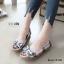 รองเท้าคัทชูส้นแบน เกาหลี สไตล์โบฮิป(น้ำเงิน) thumbnail 2