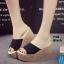 รองเท้าส้นเตารีด สไตล์เกาหลี(สีดำ) thumbnail 3