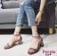 รองเท้าส้นตัน ผ้าซาติน(สีม่วง) thumbnail 3