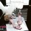 รองเท้าส้นตัน ผ้าซาติน(สีม่วง) thumbnail 2