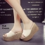 รองเท้าส้นเตารีด สไตล์เกาหลี(สีครีม) thumbnail 1