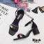 รองเท้าส้นตัน ผ้าซาติน(สีดำ) thumbnail 6