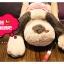 ตุ๊กตาสุนัข หมอนข้าง (ใส่เสื้อลายสีแดง) ขนาด 90 cm. thumbnail 3