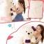 ตุ๊กตาหมีสีขาว ผูกผ้าพันคอ ขนาด 1.3 m. thumbnail 5