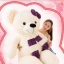 ตุ๊กตาหมีสีขาว ผูกผ้าพันคอ ขนาด 1.3 m. thumbnail 6