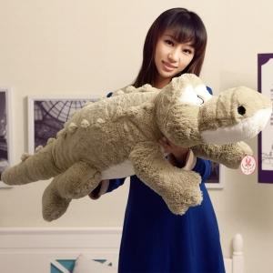 ตุ๊กตาจระเข้ สีเทา ขนาด 65 cm. (Pre-Oreder)