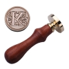 K Sealing Wax Classic Initial Wax Seal Stamp Alphabet Letter MRetro Wood (Intl)