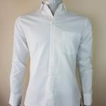 เสื้อเชิ้ตผู้ชายคอปกสีขาว ทรงสลิมฟิต