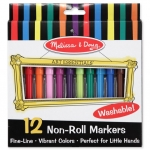 Melissa and Doug Non-toxic Washable Markers - Non-Roll 12 แท่ง